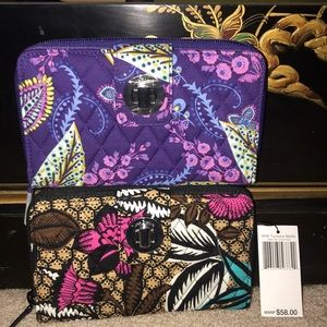 Vera Bradley RFID Turnlock Wallet Canyon Road